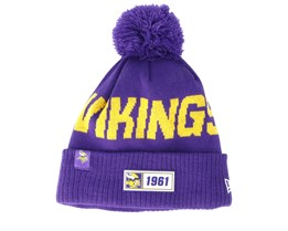 Minnesota Vikings On Field 19 Sport Knit Purple/Yellow Pom - New Era