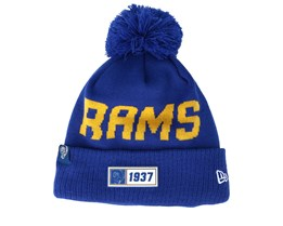 Los Angeles Rams On Field 19 Sport Knit Blue/Yellow Pom - New Era
