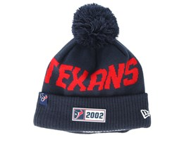 Houston Texans On Field 19 Sport Knit Navy/Red Pom - New Era