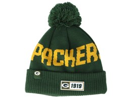 Green Bay Packers On Field 19 Sport Knit Green/Yellow Pom - New Era