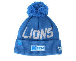 Detroit Lions On Field 19 Sport Knit Blue/Light Blue Pom - New Era