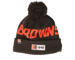 Cleveland Browns On Field 19 Sport Knit Brown/Orange Pom - New Era