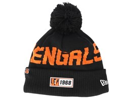 Cincinnati Bengals On Field 19 Sport Knit Black/Orange Pom - New Era