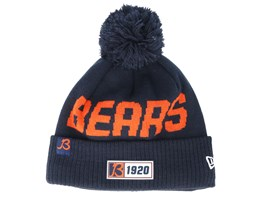 Chicago Bears On Field 19 2 Sport Knit Navy/Orange Pom - New Era
