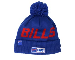 Buffalo Bills On Field 19 Sport Knit Blue/Red Pom - New Era