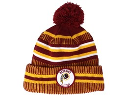 Washington Redskins On Field 19 Sport Knit Red/Yellow Pom - New Era
