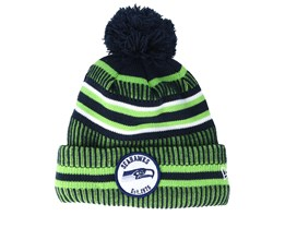 Seattle Seahawks On Field 19 Sport Knit Green/Navy Pom - New Era