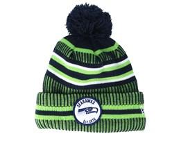 Seattle Seahawks On Field 19 Sport Knit Green/Navy Pom - New Era