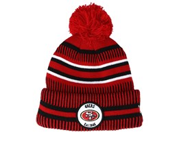San Francisco 49ers On Field 19 Sport Knit Red/Black Pom - New Era