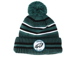Philadelphia Eagles On Field 19 Sport Knit Dark Teal/Black Pom - New Era