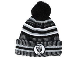 Oakland Raiders On Field 19 Sport Knit 2 Black/Grey Pom - New Era