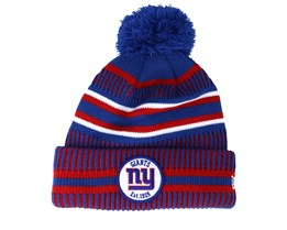 New York Giants On Field 19 Sport Knit 2 Blue/Red Pom - New Era