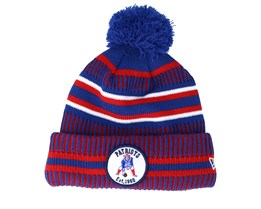 New England Patriots On Field 19 Sport Knit 2 Blue/Red Pom - New Era