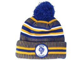 Los Angeles Rams On Field 19 Sport Knit 2 Blue/Yellow Pom - New Era