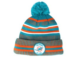 Miami Dolphins On Field 19 Sport Knit 2 Teal/Orange Pom - New Era