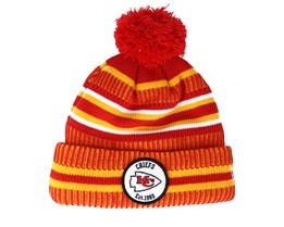 Kansas City Chiefs On Field 19 Sport Knit 2 Red/Yellow Pom - New Era