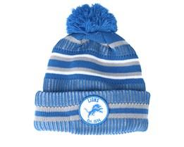Detroit Lions On Field 19 Sport Knit 2 Blue/White Pom - New Era