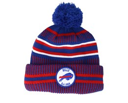 Buffalo Bills On Field 19 Sport Knit 2 Blue/Red Pom - New Era