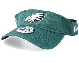 Philadelphia Eagles On Field 19 Green Visor - New Era