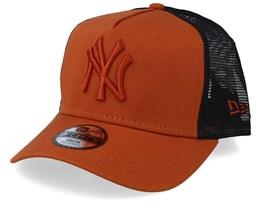 f38b74f4 Kids New York Yankees League Essential Rust/Rust/Black Trucker - New Era