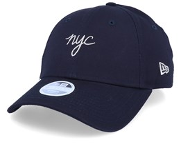 NYC Script Womens 9Forty Navy/Glitter Grey Adjustable - New Era