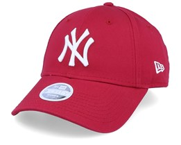 New York Yankees League Essential Womens 9Forty Red/White Adjustable - New Era