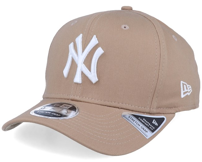 New York Yankees Wheat White MLB New Era 9Fifty Snapback Hat Cap Ny Custom N Y