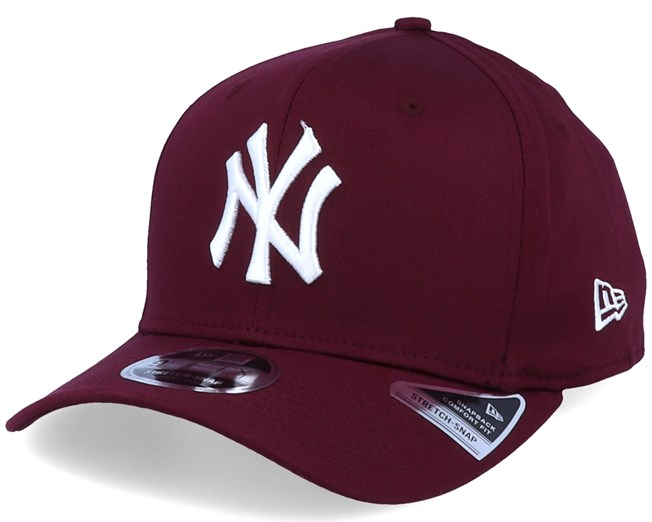 New York Yankees Tonal Stretch 9Fifty Maroon/White Adjustable - New Era