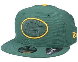 Green Bay Packers Team Outline 9Fifty Green/Yellow Snapback - New Era