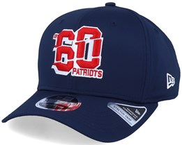 New England Patriots NFL Numbers Stretch 9Fifty Navy/Red Adjustable - New Era