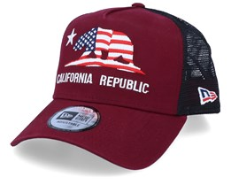 Canvas California Maroon/Black Trucker - New Era