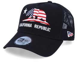 Canvas California Black/Black Trucker - New Era