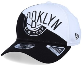 Brooklyn Nets NBA Team Split Stretch 9Fifty Black/White Adjustable - New Era