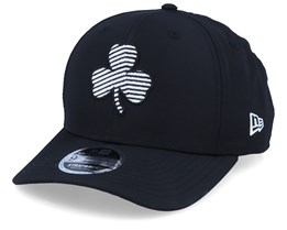 Boston Celtics Monotape Pc 9Fifty Black/White Strapback - New Era