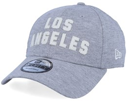 LA Lakers NBA Felt Script 9Forty Heather Grey/White Adjustable - New Era
