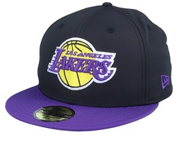 LA Lakers Black Crown 59Fifty Black/Purple Fitted - New Era