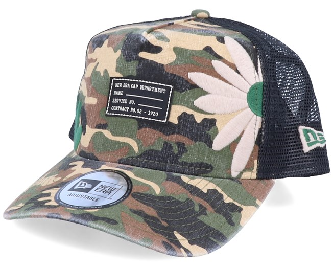 Military Flower Camo/Black Trucker - New Era
