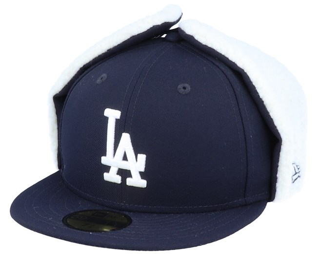 Los Angeles Dodgers 59Fifty League Essential Dogear Black/White Ear Flap - New Era
