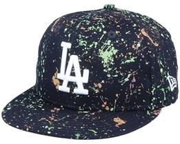 Los Angeles Dodgers 9Fufty Paint Pack Navy/White Snapback - New Era