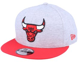 Chicago Bulls9Fifty Jersey Essential Heather Grey/Red Snapback - New Era