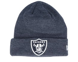 Oakland Raiders Dark Heather/Black Cuff - New Era