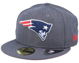 New England Patriots 59Fifty Heather Essential Grey Fitted - New Era