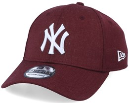 New York Yankees 39Thirty Heather Essential Maroon/White Flexfit - New Era