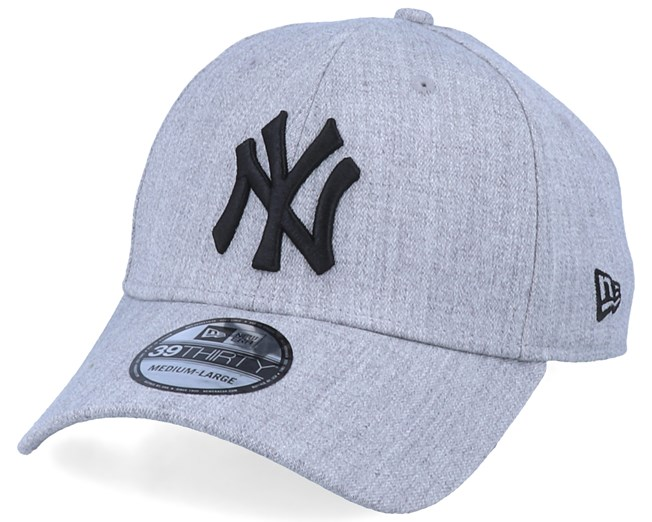 New York Yankees 39Thirty Heather Essential Grey/Black Flexfit - New Era