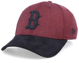 Boston Red Sox 39Thirty Heather Maroon/Black Flexfit - New Era