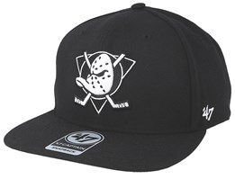 Anaheim Ducks No Shot 47 Captain Black/Black & White Snapback - 47 Brand