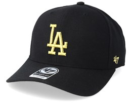 Los Angeles Dodgers Cold Zone Metallic 47 Mvp DP Black/Gold Adjustable - 47 Brand