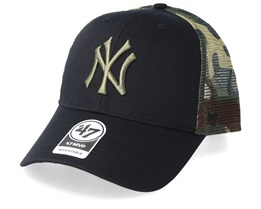 New York Yankees Back Switch 47 Mvp Black/Camo Trucker - 47 Brand
