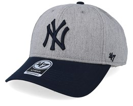 New York Yankees Palomino Two Tone 47 Mvp Heather/Navy Adjustable - 47 Brand