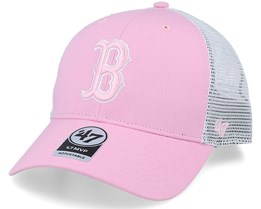 Boston Red Sox Flagship Mvp Petal Pink/White Trucker - 47 Brand